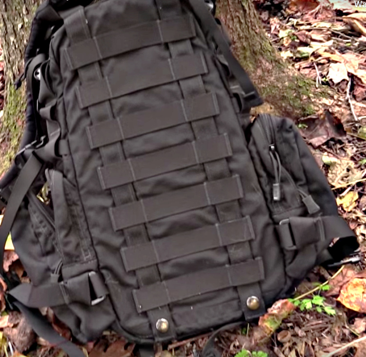 PALS system on the back of the Yote Hydration Pack.