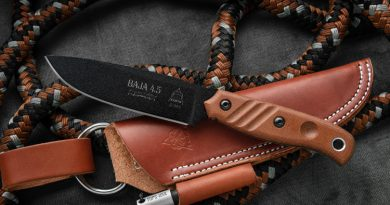 Baja 4.5 Limited Edition - fixed blade knife and sheath from TOPS Knives.