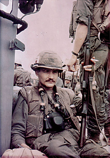 Dale Dye with M1 Carbine, Vietnam, 1968