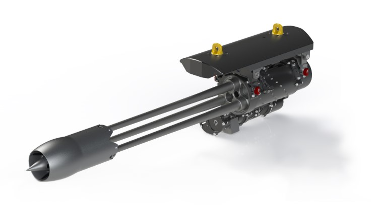 The Dillon Aero 503D Gatling gun can ride on vehicles or aircraft and can be dialed down to a rate-of-fire for just about any platform.