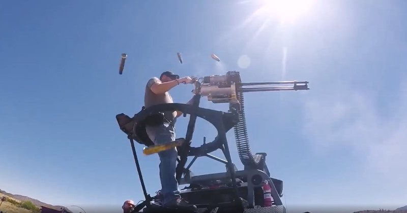 The new Dillon Aero 503D Gatling gun slings .50cal rounds at a blistering 1,500 rounds per minute. (Photo by Dillon Aero)