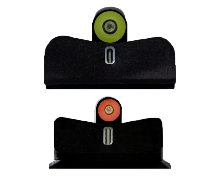 DXT2 Big Dot Night Sights available in Optic Yellow and Optic Orange.