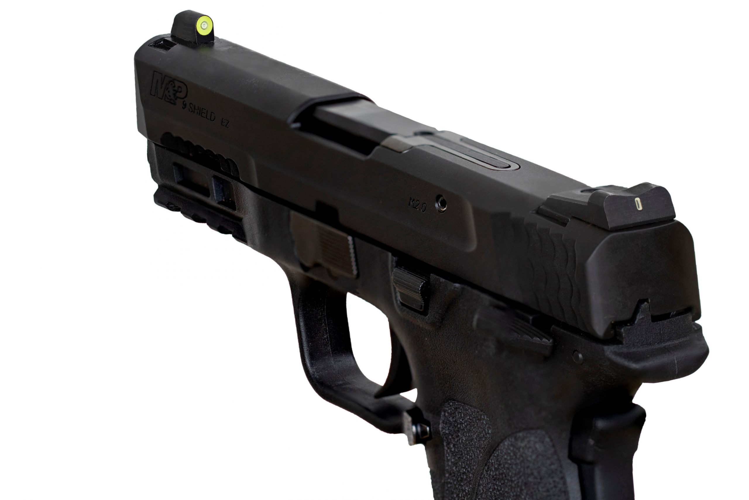 The DXT2 Big Dot Night Sight on a S&W M&P9 Shield EZ in Optic Yellow.