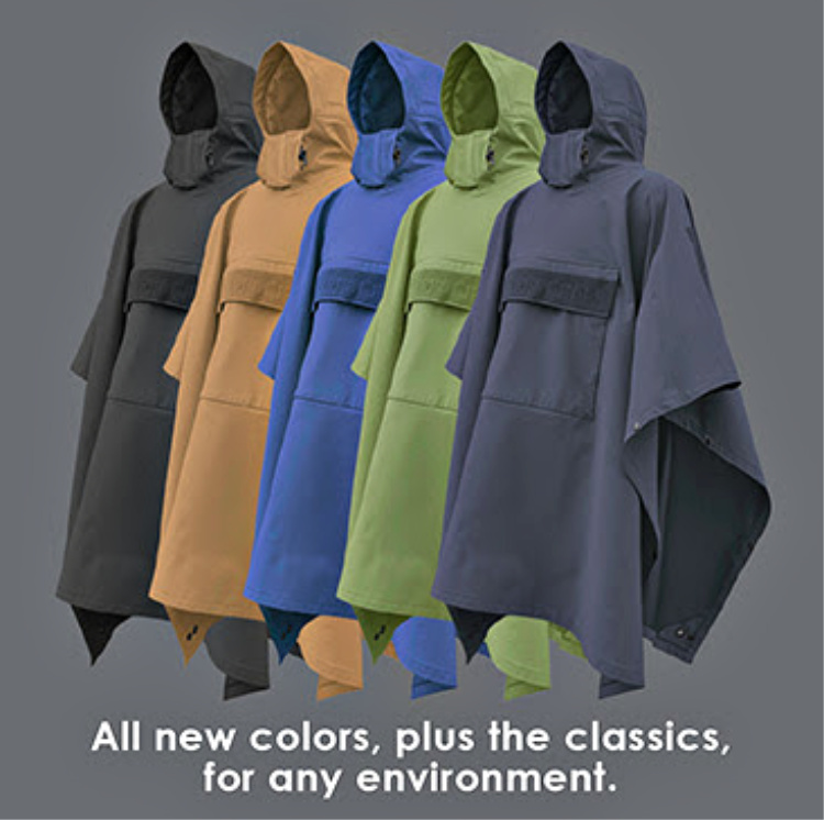 Hazard 4's latest tactical poncho version is available in several colors.