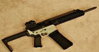 AR-57: An AR-15 in 5.7 with a P90-style magazine...seriously?