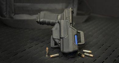 Blackhawk's T-Series Blueline L2C holsters honor the men and women of law enforcement.