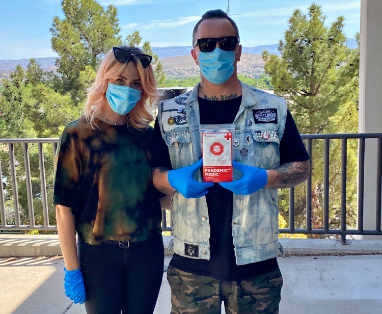 Tiffany and Branden Steineckert joined up with the Give Kits Foundation to bring PPE Kits to first responders.