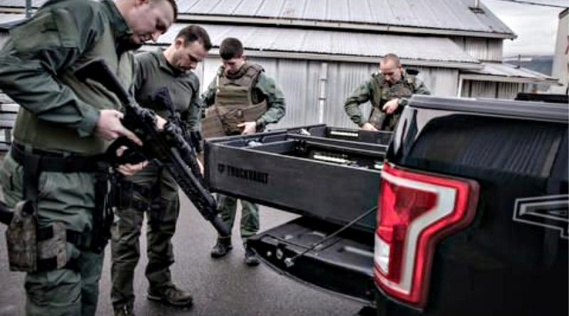 TruckVault Storage system in Ford F150 - Police Skagit SWAT.