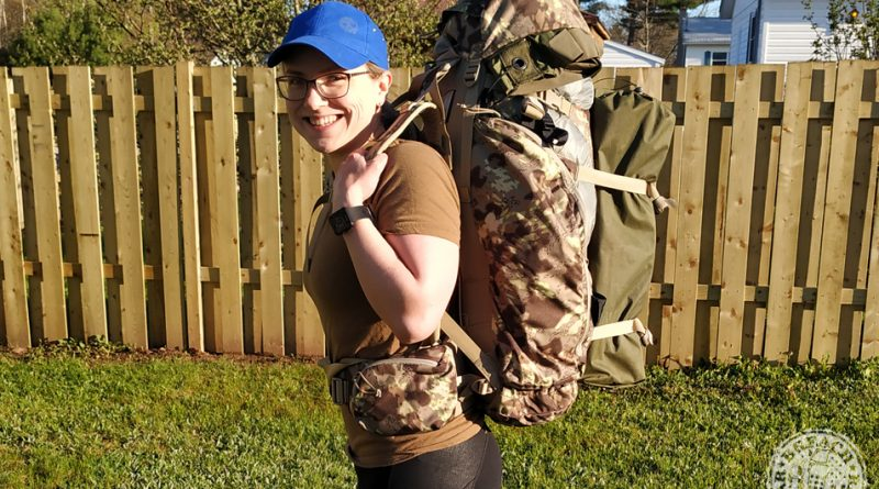 Melissa Wearing The Garmin Forerunner 35 Along With Her Deadfall 65 Pack
