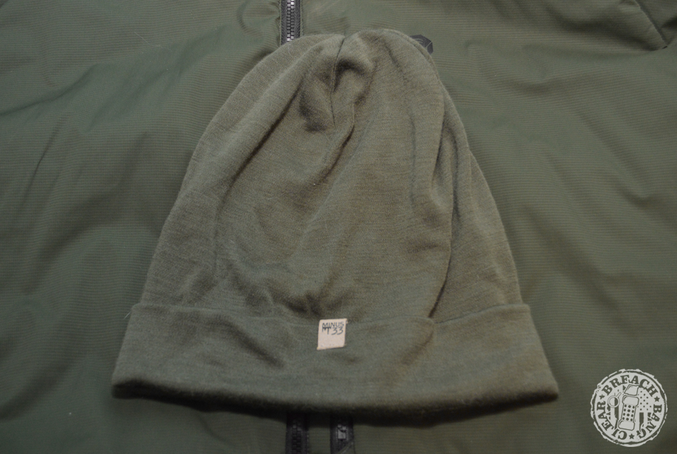 Olive Drab EDC items: The Minus33 Ridge Cuff wool beanie is light and warm.