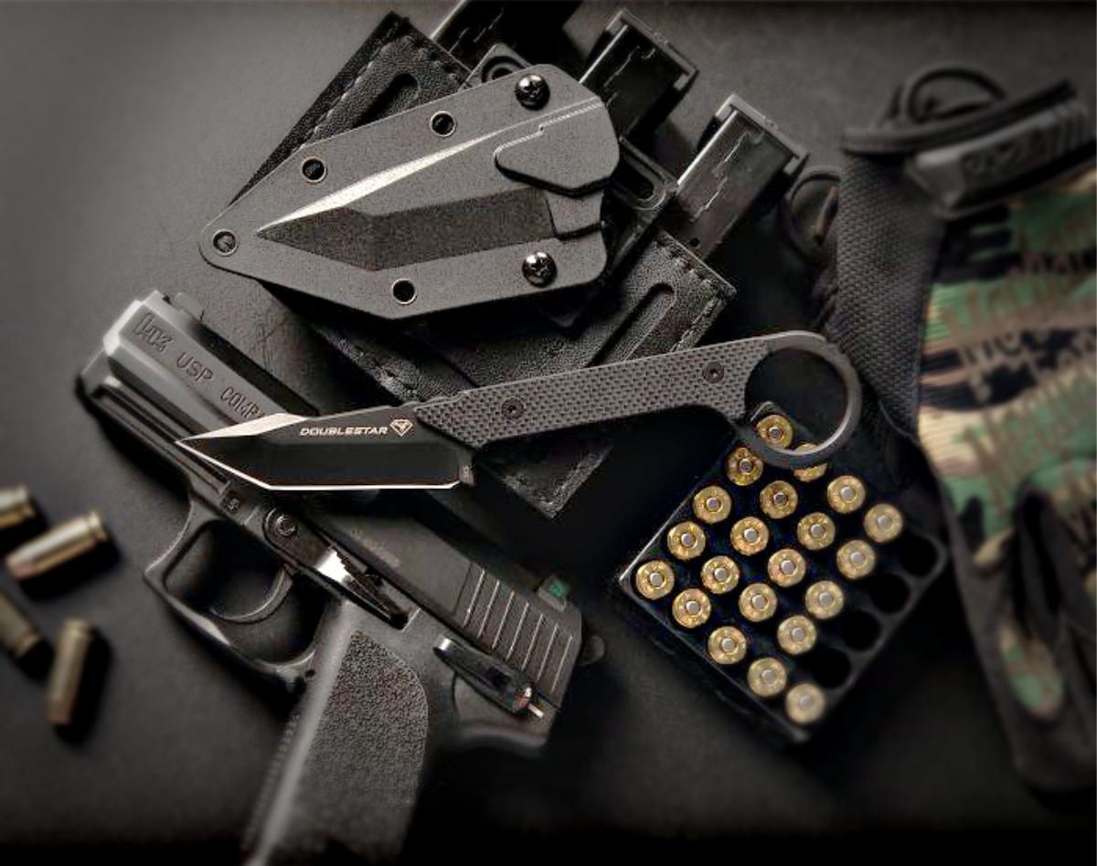 Ahab-x DoubleStar Arms fixed blade knife - EDC.
