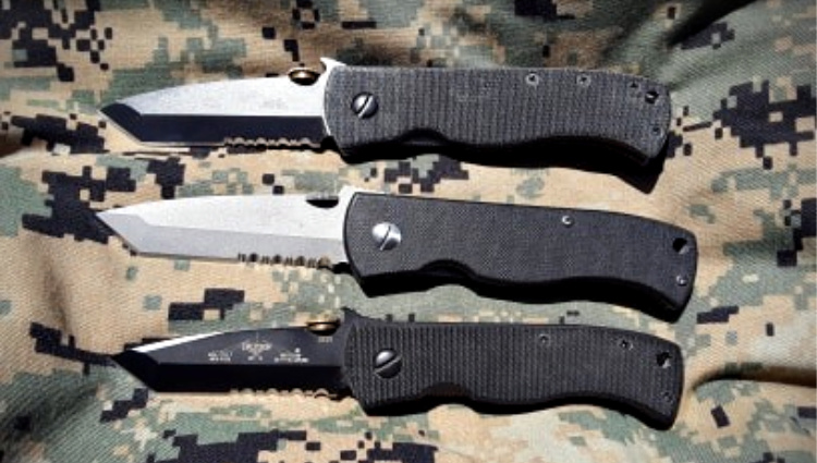 Emerson CQC-7 two full size, one mini.