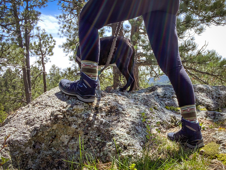 Lowa Toro Evo LL warm weather hiking boots ankle support and flexibility.