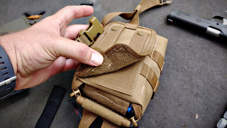 Back of the My Medic Range Kit - PALS and velcro.