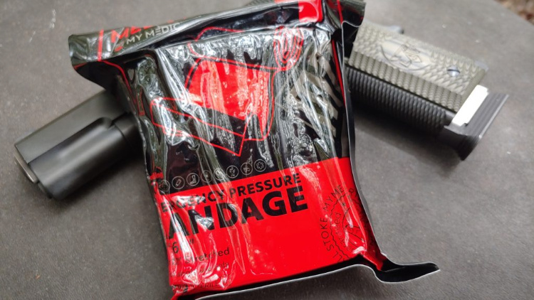 Range Medic Kit comes with an Emergency Pressure bandage.