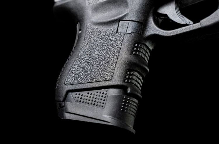 extended magazine baseplate for Glock 26 by Strike Industries.