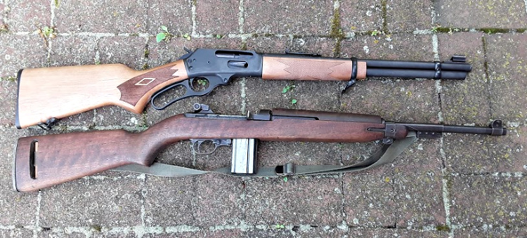 The Marlin beside the M-1 Carbine.