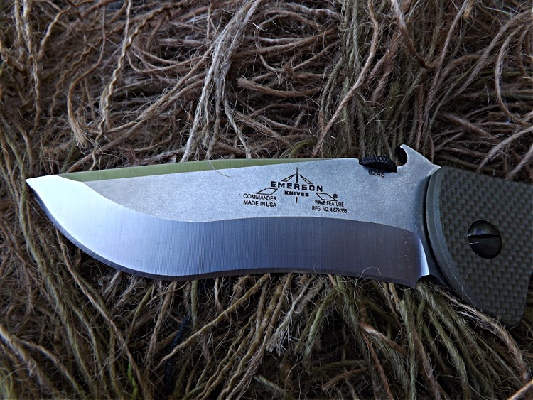 Emerson Commander - swedge at top for penetrating stabs.