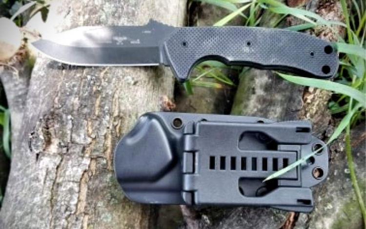 Emerson PUK and sheath back showing removable Tek-Lok.