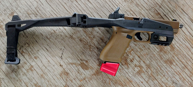 Glock 17 with Shield Arms accessory