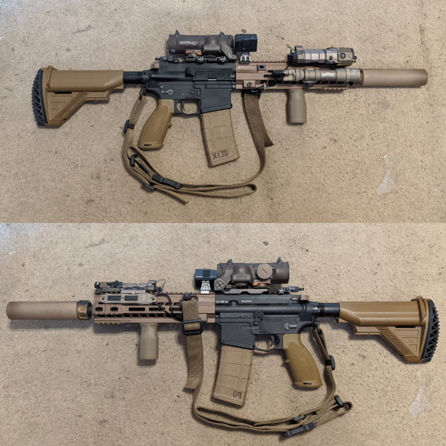 HK416 Close Quarters Carbine built with DARC lessons in mind: the subject of discussion.