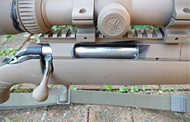 Ruger American Predator bolt handle, action, Picatinny Rail.