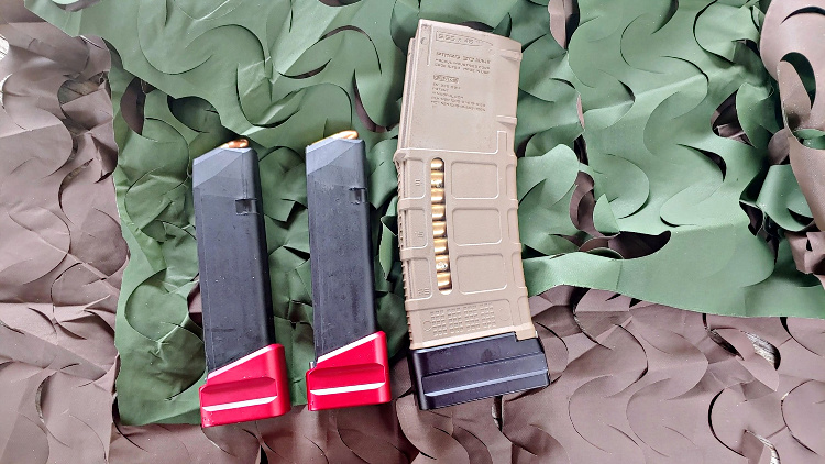 Shield Arms Glock 17 magazine extensions and PMAG extensions