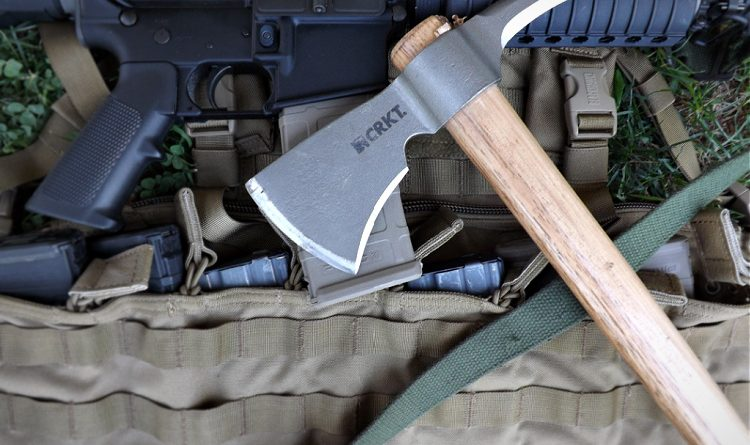 The CRKT Kangee Woods tomahawk is utilitarian and a terrifying CQB weapon.