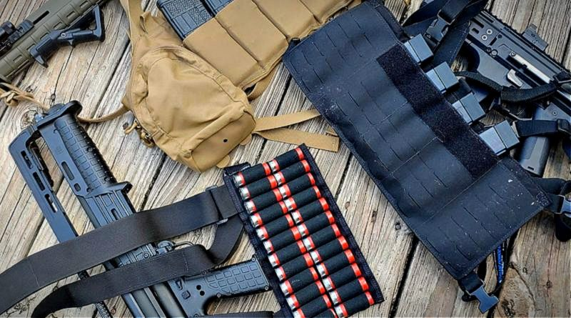 chest rigs loaded with ammunition and magazines