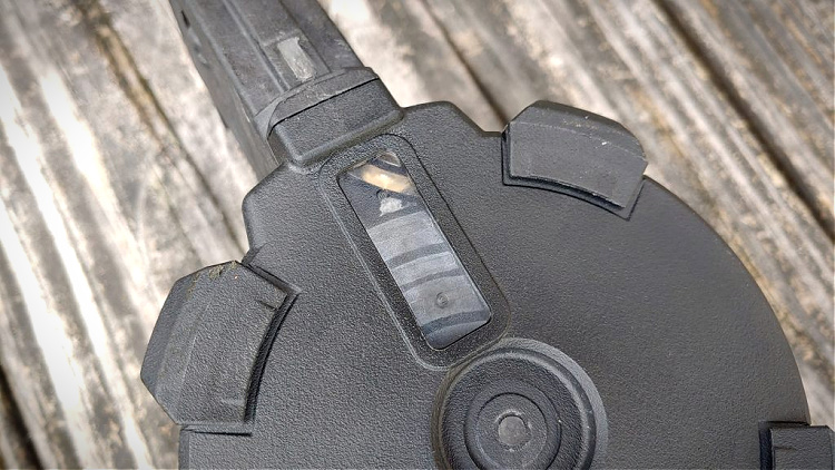 Magpul D-50 drum magazine ammo check window