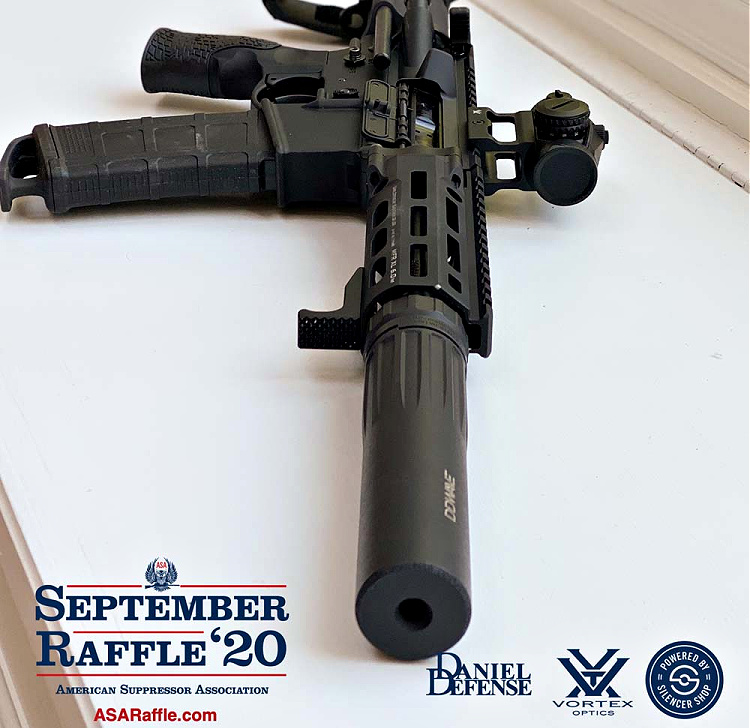 Personal Defense Weapon PDW raffle with suppressor - American Suppressor Association - 2020