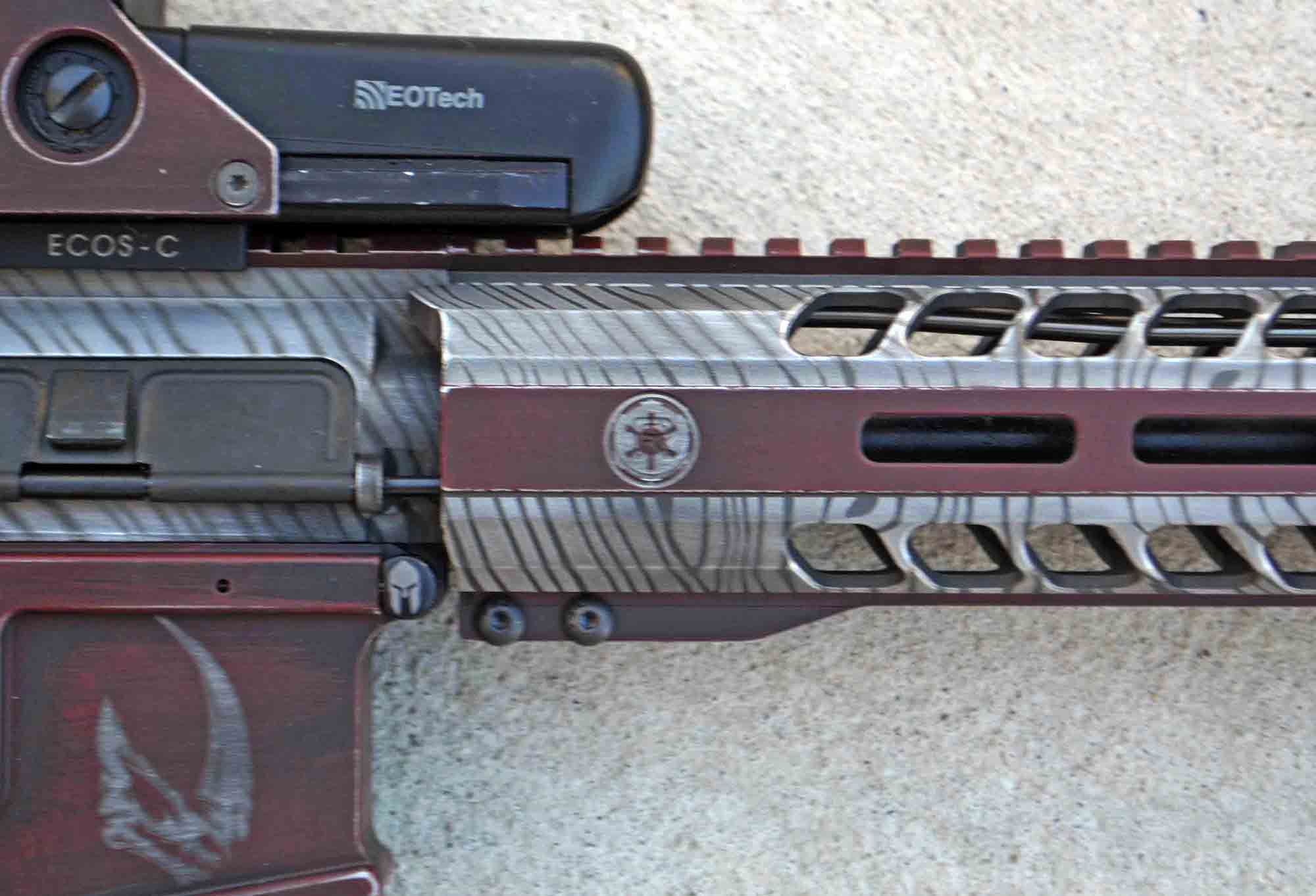 Imperial symbol on Radical Firearms upper receiver